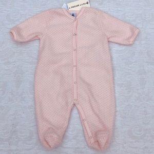 PETIT BATEAU**Pink Fleece Onesie**3 Mo. $78